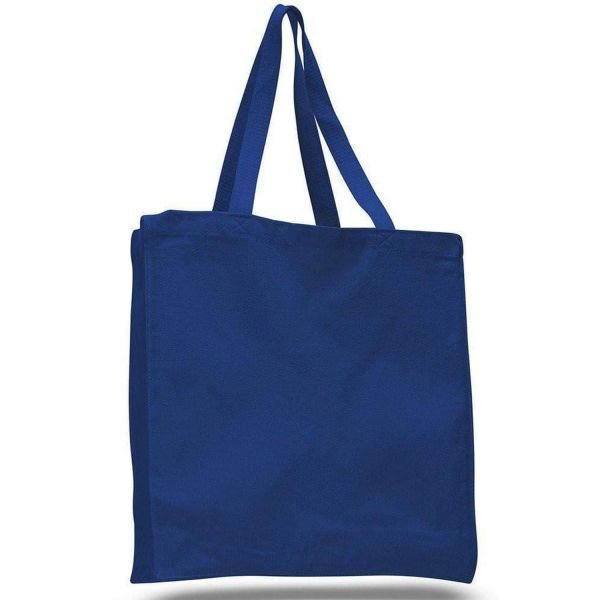 Heavy Canvas Shopper Tote Bag Full Side and Bottom Gusset - Set of 12