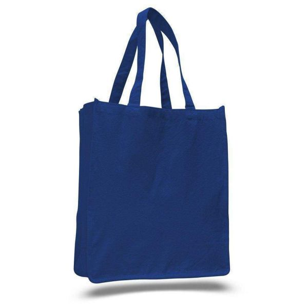 Large Heavy Canvas Shopper Grocery Tote Bag Jumbo Size - Set of 12