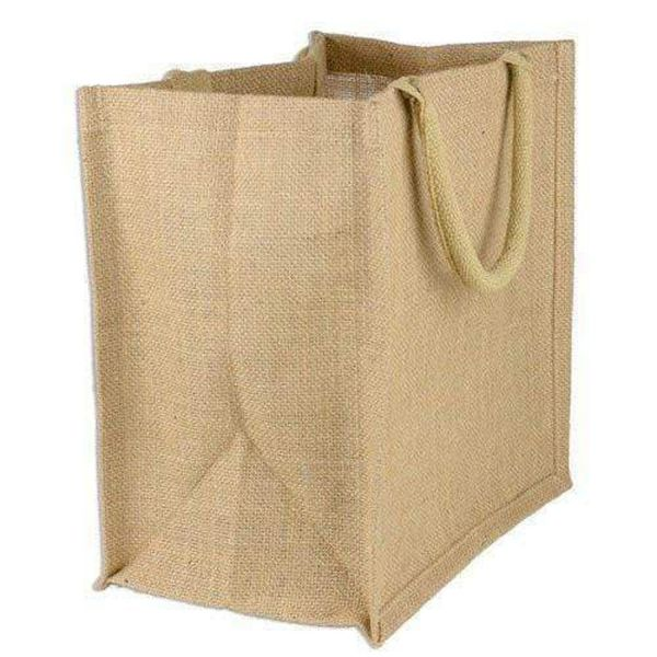 Large Wholesale Burlap Tote Bags with Full Gusset - Set of 6