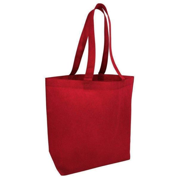 Promotional Non-Woven Large Tote Bags with Bottom Gusset - Set of 50