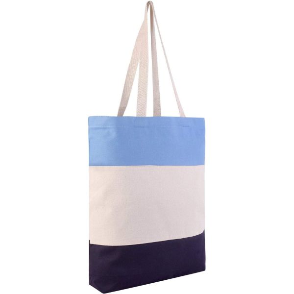 Heavy Duty Tri-Color Wholesale Canvas Tote Bags