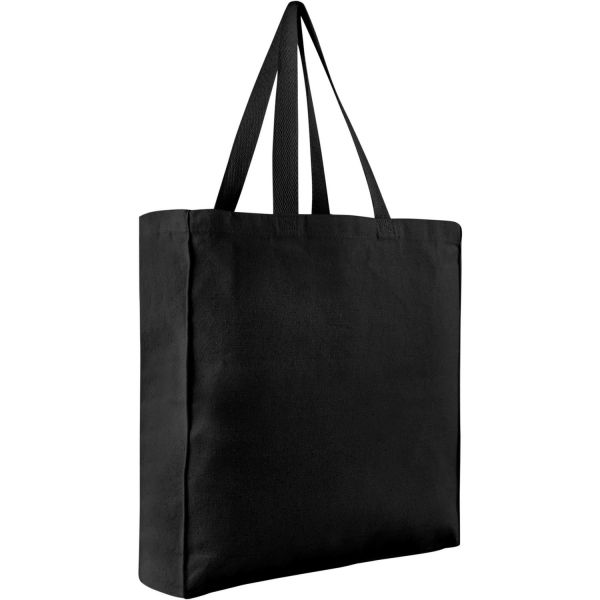 Heavy Canvas Shopping Tote Bags w/ Side and Bottom Gusset - B230