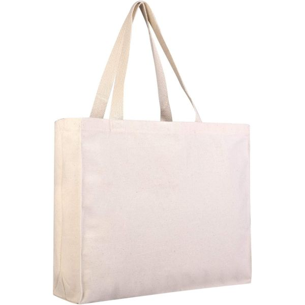 Wholesale Canvas Tote Bags, Horizontal Tote Bag with Gusset