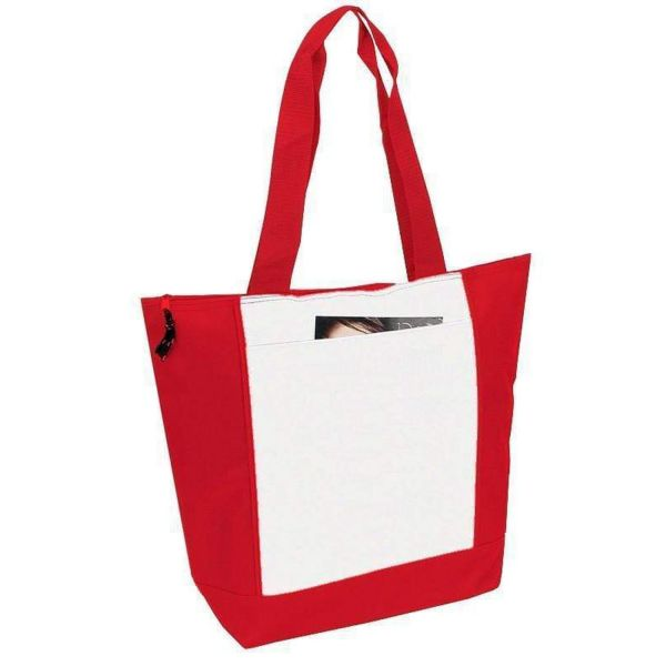 Polyester Deluxe Zipper Tote Bag - BS185
