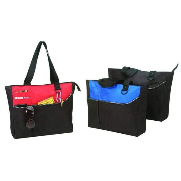 Wholesale Polyester Tote Bags w/ Zipper - BS209