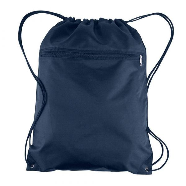 Wholesale Drawstring Bags Polyester Backpacks with Front Zipper Pocket | BPK10