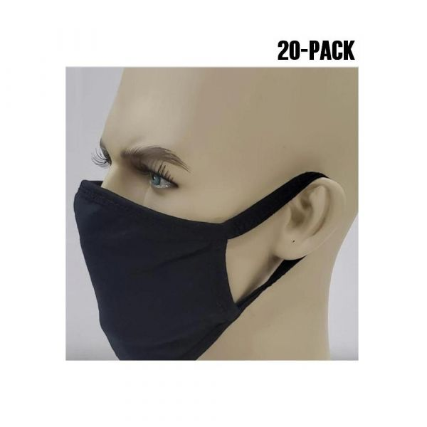 2-Ply 100% Cotton Washable / Reusable Face Masks in Bulk (20 PACK)