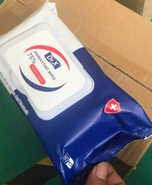 DRx 75% Alcohol Wipes (80 Wipes/Box)