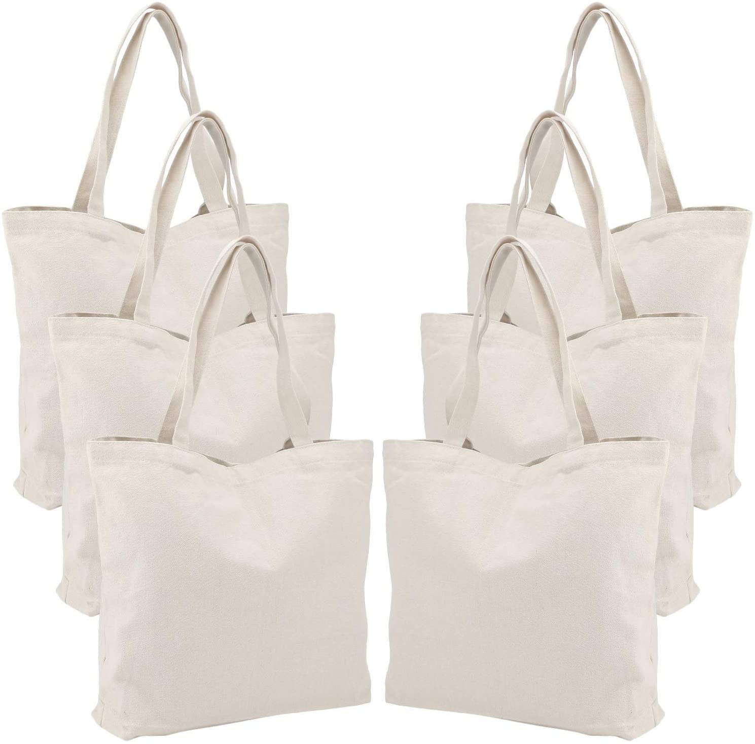 Blank canvas tote bags from BagzDepot